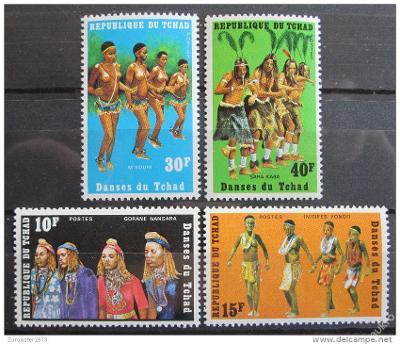 Čad 1971 Tanečníci Mi# 431-34 1085