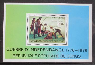 Kongo 1976 Americká revoluce Mi# Block 10 1136