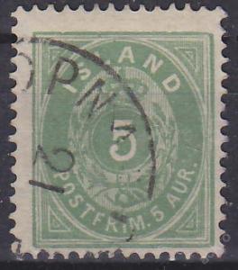 ISLAND 1882 Mi.č.: 13 A - ražená