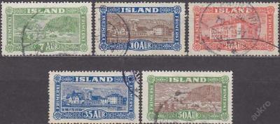 ISLAND 1925 Mi.č.: 114-118 - ražené