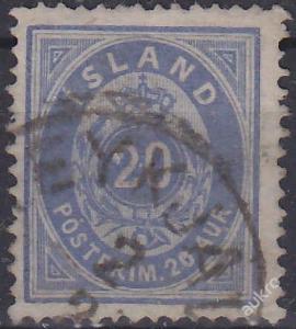 ISLAND 1882 Mi.č.: 14 A - ražená