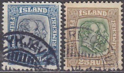 ISLAND 1907 Mi.č.: 56 + 57 - ražené