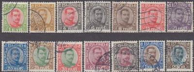 ISLAND 1920 Mi.č.: 83-85+87-96 - ražené