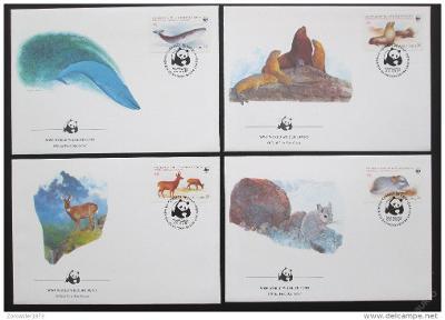 Chile 1985 Zvířata 020 Mi# 1066-69 FDC WWF
