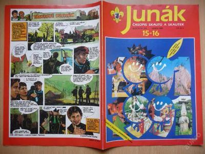 Časopis - JUNÁK - číslo 15-16 ze srpna roku 1991