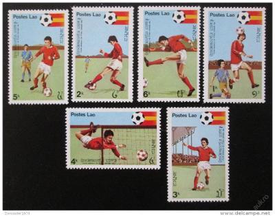Laos 1981 MS ve fotbale Mi# 505-10