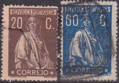 PORTUGALSKO 1917 Mi.č.: 234 + 241 - ražené