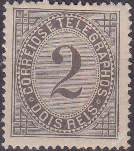 PORTUGALSKO 1884 Mi.č.: 59 B - *nálepka*