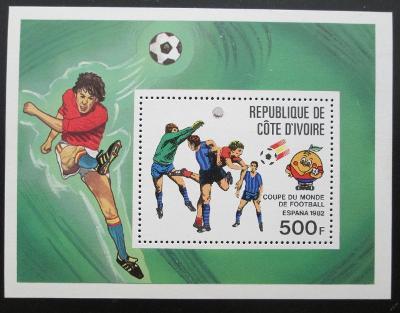 Pobřeží Slonoviny 1981 MS fotbal Mi# Bl 24 0259
