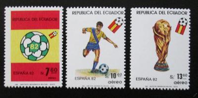 Ekvádor 1981 MS ve fotbale Mi# 1909-11