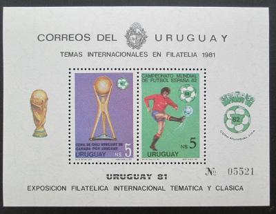 Uruguay 1981 MS ve fotbale Mi# Block 51 30€