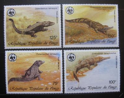Kongo 1987 Krokodýly 045 Mi# 1063-66 Kat 14€