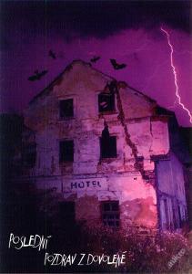 horor pohlednice Hotel-Poslední pozdrav z dovolené