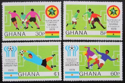 Ghana 1978 MS ve fotbale Mi# 746-49