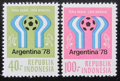 Indonésie 1978 MS ve fotbale Mi# 896-97