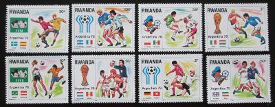Rwanda 1978 MS ve fotbale Mi# 944-51 1163