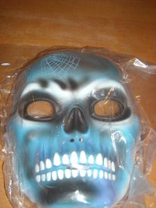 kostým - maska - lebka - halloween