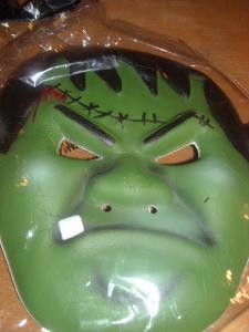 kostým - maska - Frankenstein - halloween