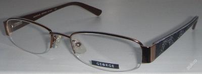 GEORGE M30873JS dámské brýle / poloobruby 51-18-135 MOC:1800 Kč