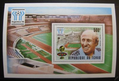 Čad 1978 MS ve fotbale přetisk Mi# Block 74