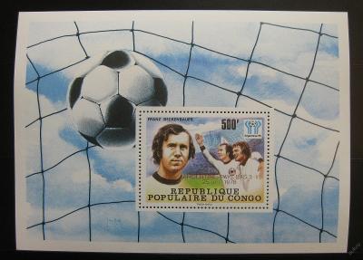 Kongo 1978 MS ve fotbale, přetisk Mi# Block 18