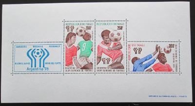 Mali 1978 MS ve fotbale Mi# Block 10 II