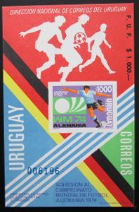 Uruguay 1974 MS ve fotbale Mi# 1304 Vysoký Kat