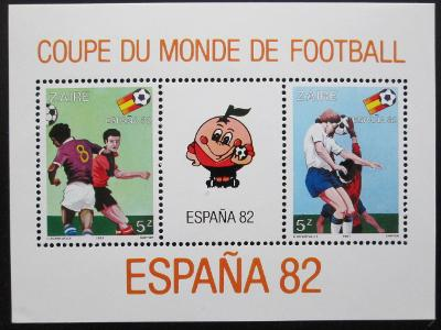 Zair 1981 MS ve fotbale Mi# Block 40