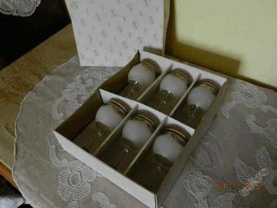 Sada 6 kusů hezké Sklenice na Víno původní  balení nepoužité