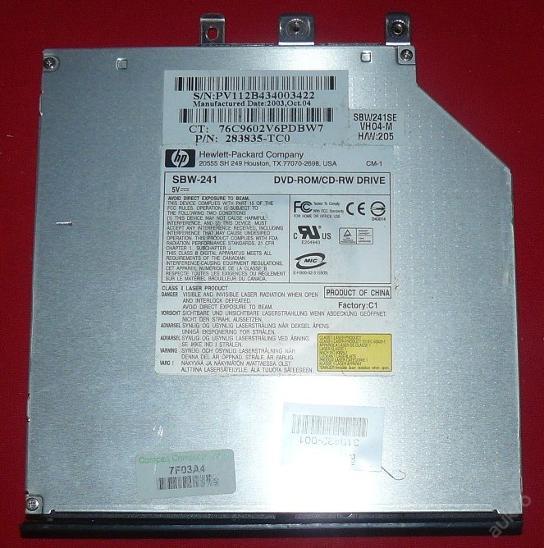 DVD-ROM SBW-241 z HP Compaq Nx9010 - Notebooky, příslušenství