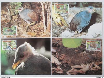 Tonga Niuafo'ou 1992 Ptáci 132 Mi# 233-36 Pohledy