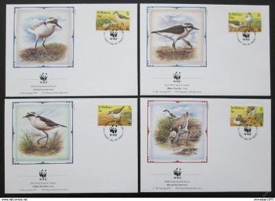 Svatá Helena 1993 Ptáci 148 Mi# 597-600 FDC WWF