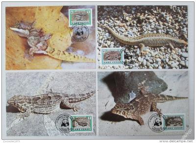 Kapverdy 1986 Ještěrky, 038 Mi# 500-03 Pohledy WWF