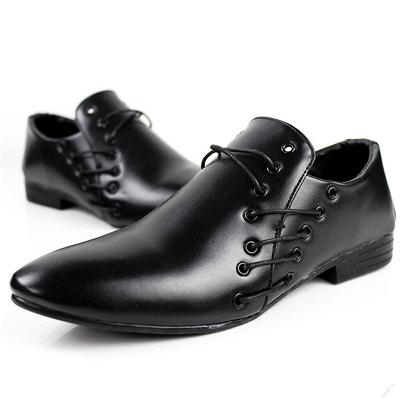 Nádherné pánské slip-on Oxford boty. Černé.