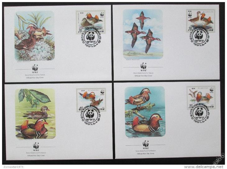KLDR 1987 Kachny 054 Mi# 2865-68 FDC WWF - Filatelie