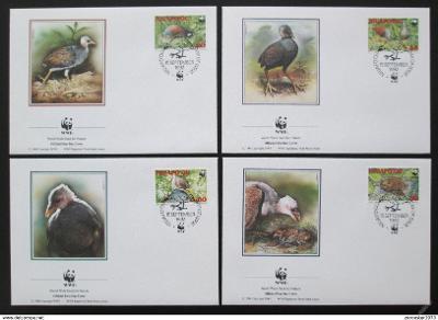 Tonga Niuafo'ou 1992 Ptáci 132 Mi# 233-36 FDC WWF