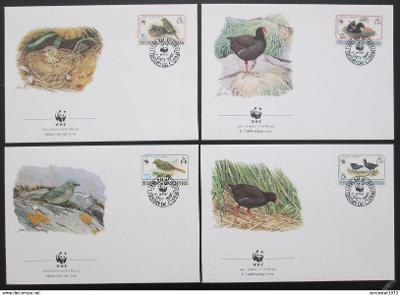 Tristan da Cunha 1991 Ptáci 118 Mi# 513-16 FDC WWF