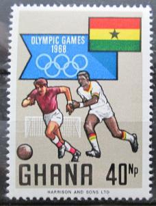 Ghana 1968 Fotbal, LOH Mexiko Mi# 354