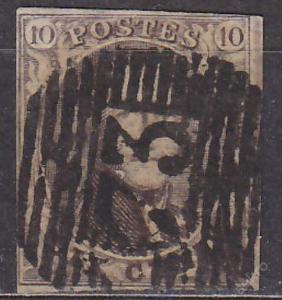 BELGIE 1854 - Mi.č.: 3 B z - ražená