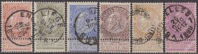 BELGIE 1893 - Mi.č.: 53-59 - ražené