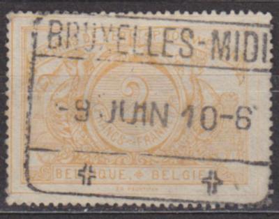 BELGIE 1895 - ŽELEZNIČNÍ Mi.č.: 23 - ražená