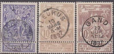 BELGIE 1896 Mi.č.: 64-66 - ražené