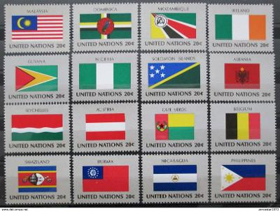 OSN New York 1982 Vlajky Mi# 397-412 1203