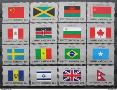 OSN New York 1983 Vlajky Mi# 422-37 1204