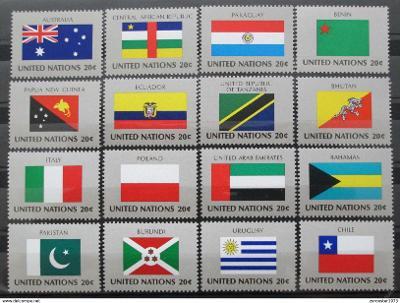 OSN New York 1984 Vlajky Mi# 448-63 1205