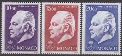 MONACO - MONAKO - RAINIER 1974 Mi.č.: 1160-1162 - **svěží**