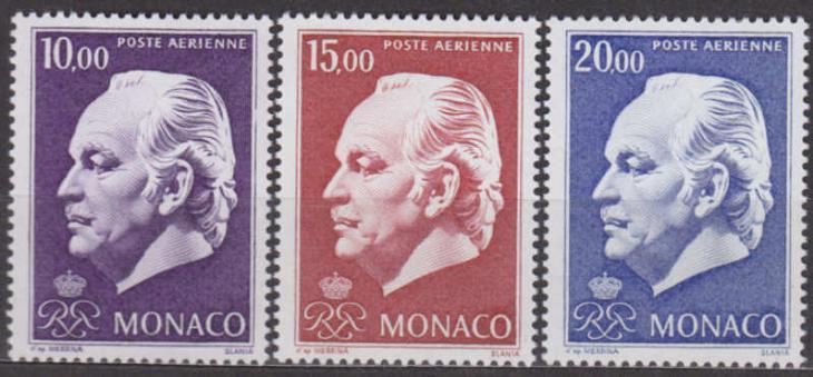 MONACO - MONAKO - RAINIER 1974 Mi.č.: 1160-1162 - **svěží** - Filatelie