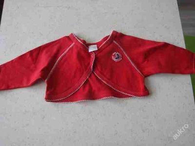 Dětské zboží - Bolerko červené vel. 80 Dirkje