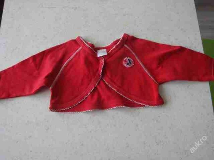 Dětské zboží - Bolerko červené vel. 80 Dirkje - Oblečení