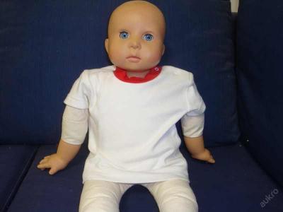 Dětské bílé tričko krátký rukáv -vel.56,62,68